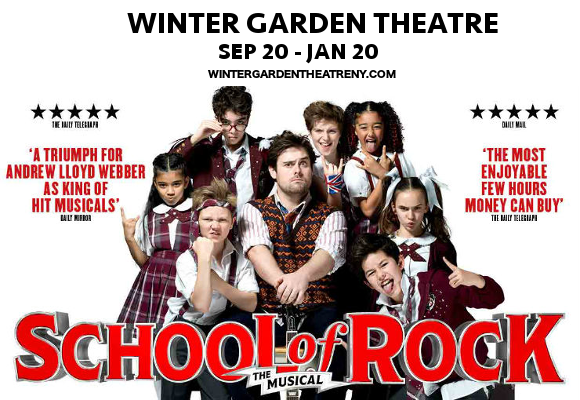 school of rock musical winter garden theatre tickets